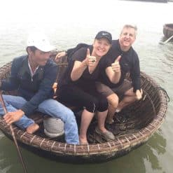 Basket boat sailing, Hoi An