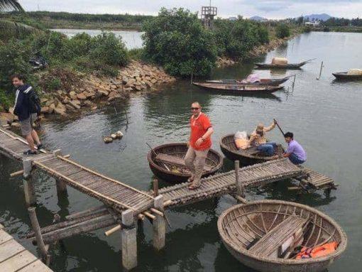 Basket boats in Hoi An, Vietnam