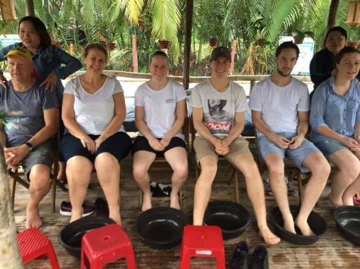 Waiting for a foot massage in Hoi An