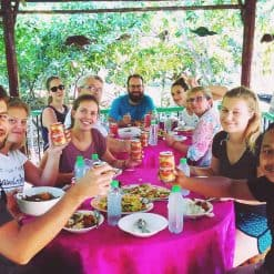 Guests on the Battambang Countryside Tour enjoying lunch