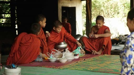 Young monks in Battambang, Cambodia