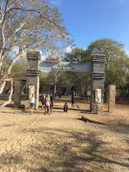 Komodo National Park entrance.