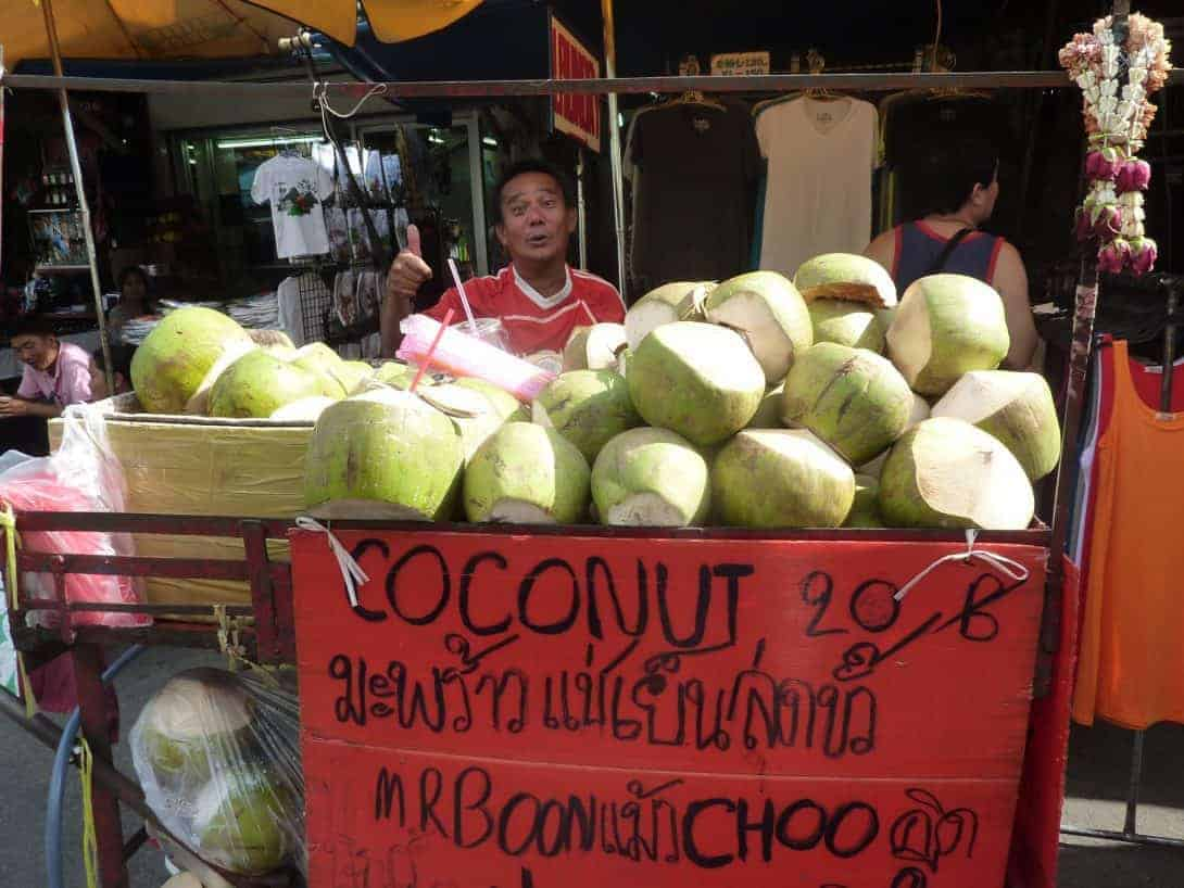 Selling coconuts on KSR.