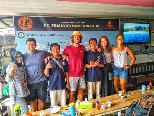 Travellers with the team at Wanua Adventures