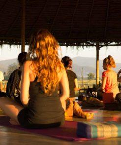 morning at Malyoga retreat in Chiang Maia Dhara