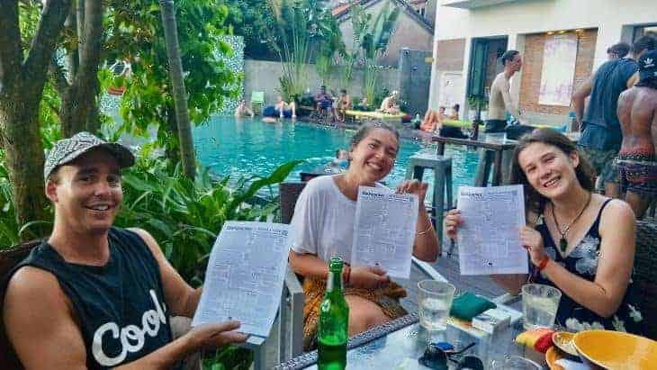 Backpackers with the news South East Asia Backpacker Newsletter