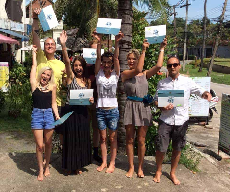 Students graduate from Samui TEFL in Thailand as fully-fledged English Teachers!