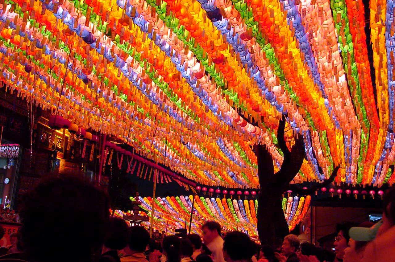 South Korea Lantern Festival in November each year.