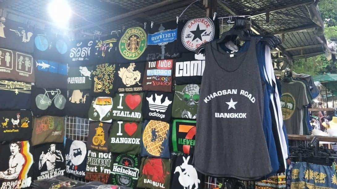 Men's T-shirts for sale on Khao San Road