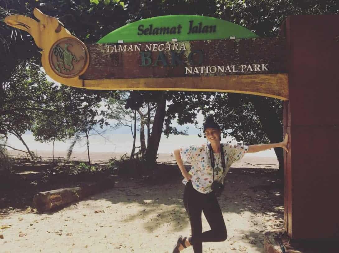 The author at Bako National Park, just outside or Kuching, Sarawak, Borneo