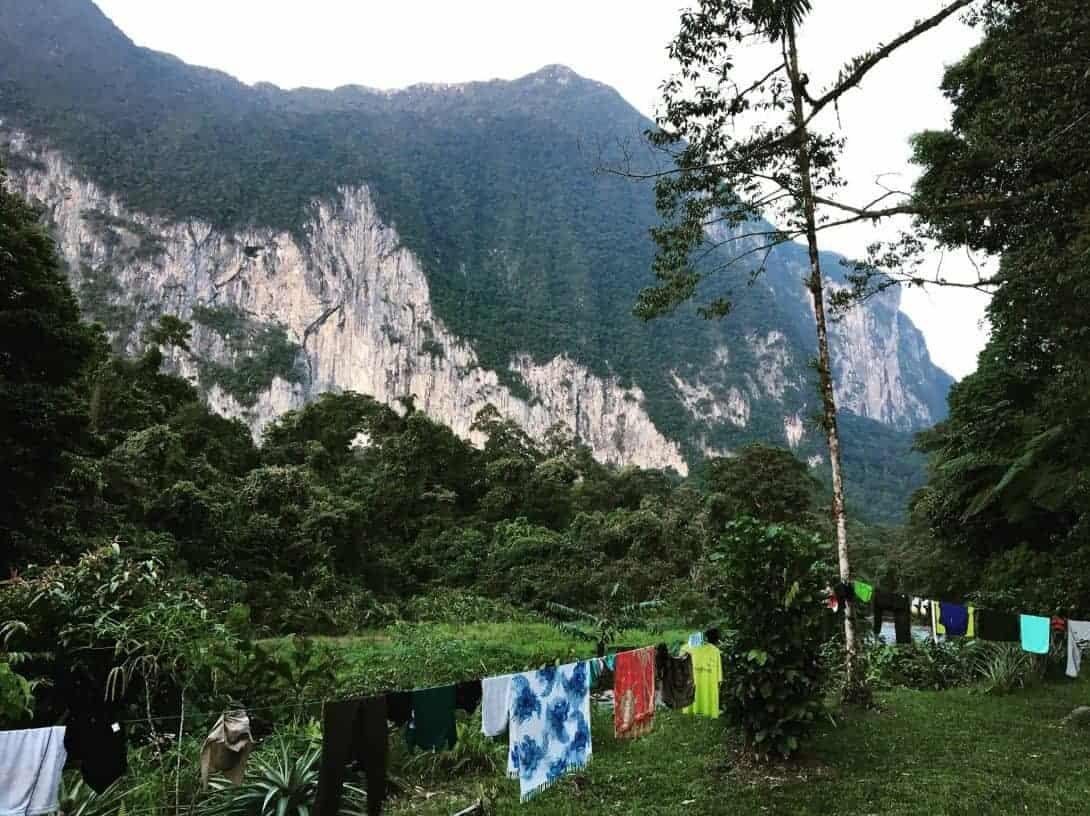 Scenery of Niamh National Park, Sarawak, Borneo