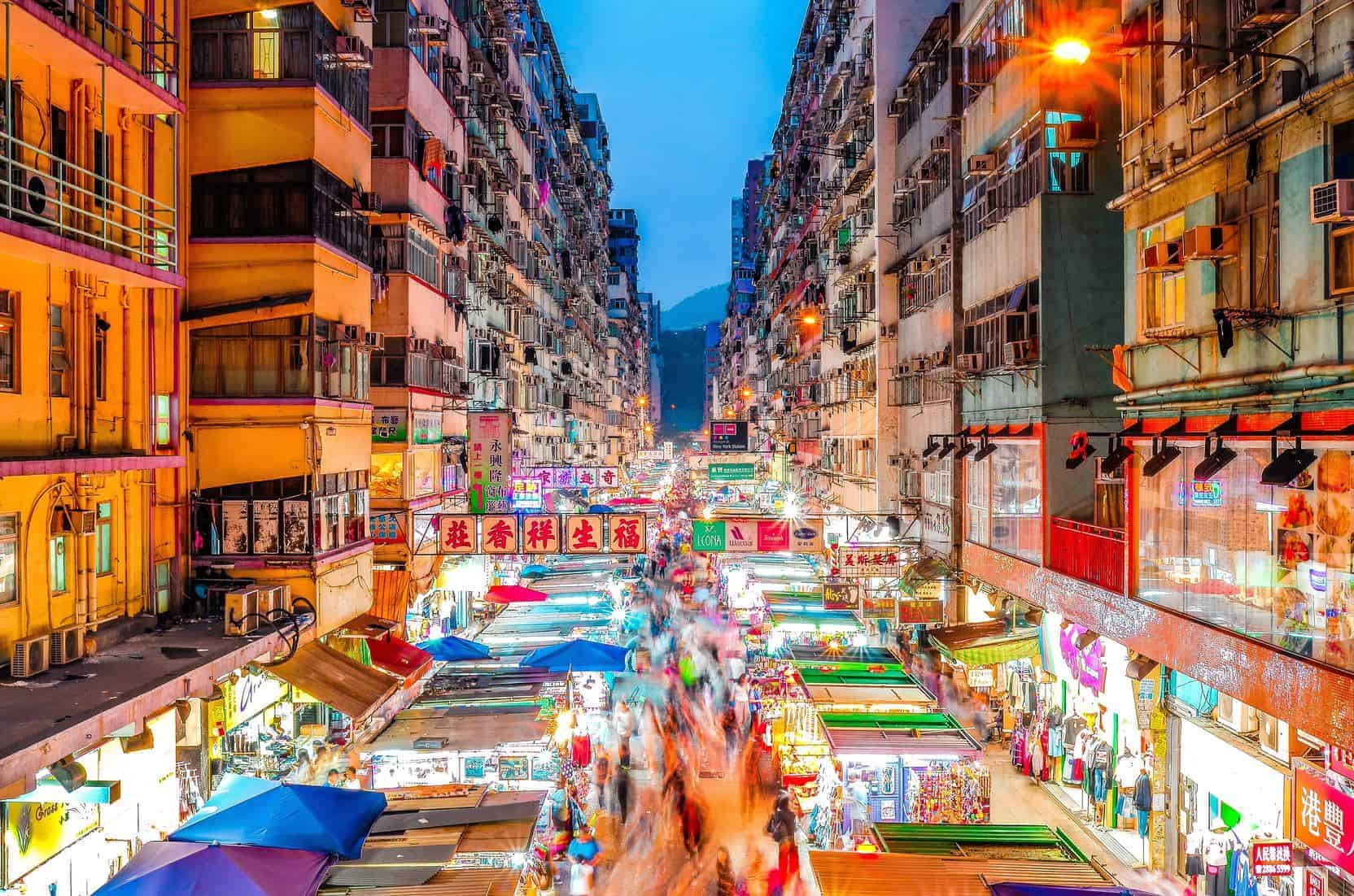 Hong Kong Night Market by Francois Hurtaud.