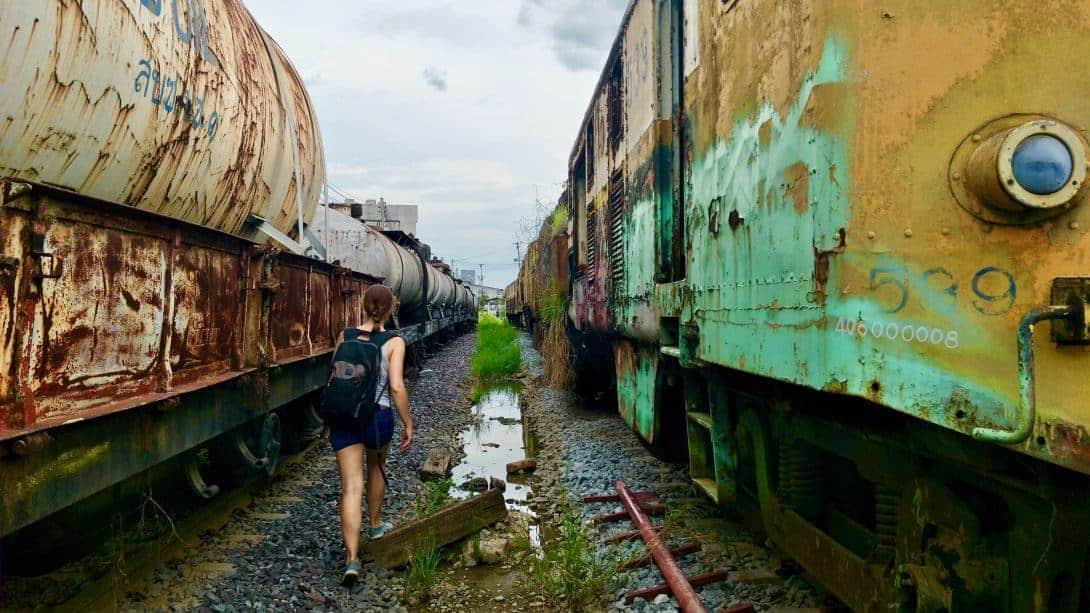 Exploring Bangkok's Train Graveyard.