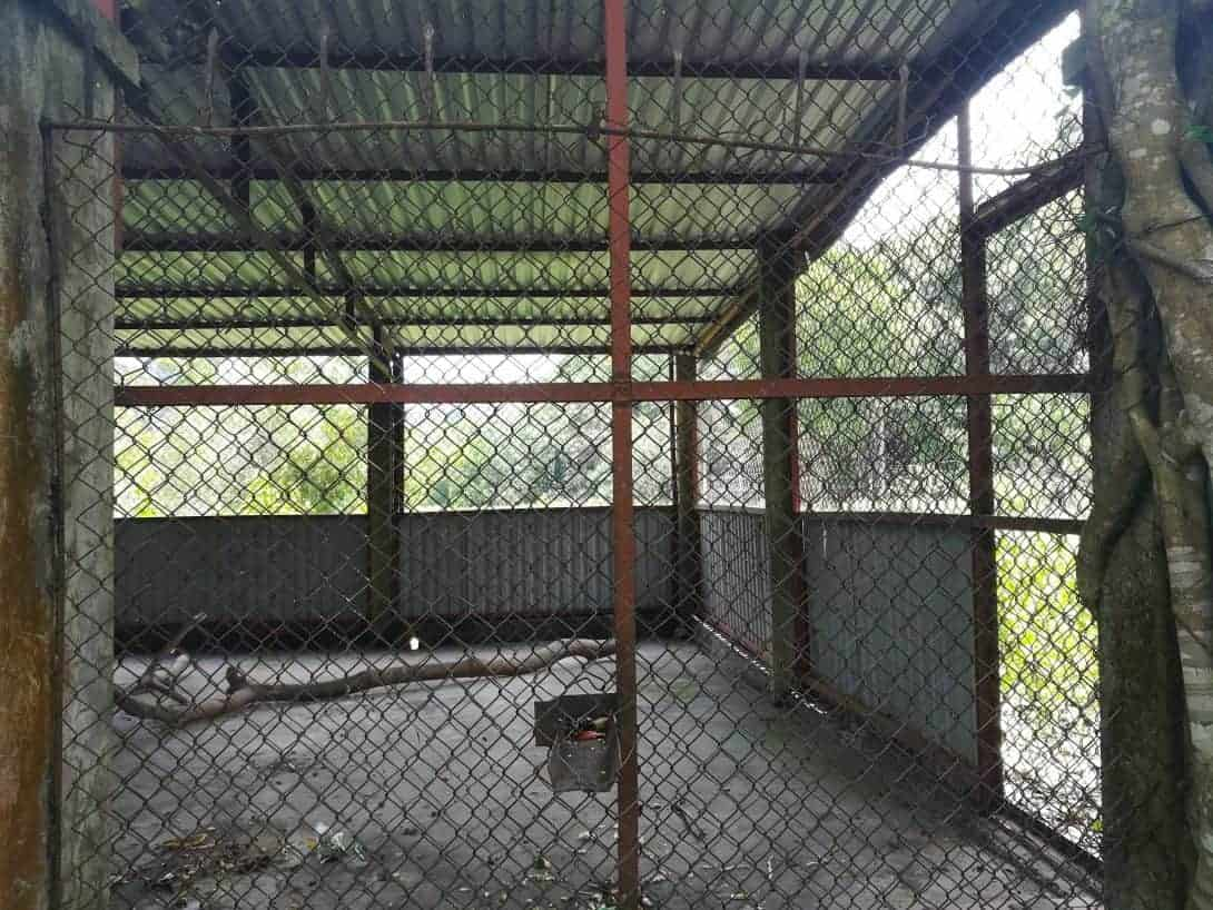The sorry cages at Cat Ba National Park.