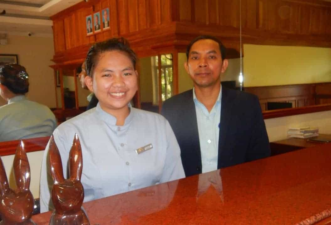 The Staff at Grand Bayon Hotel, Siem Reap, Cambodia.