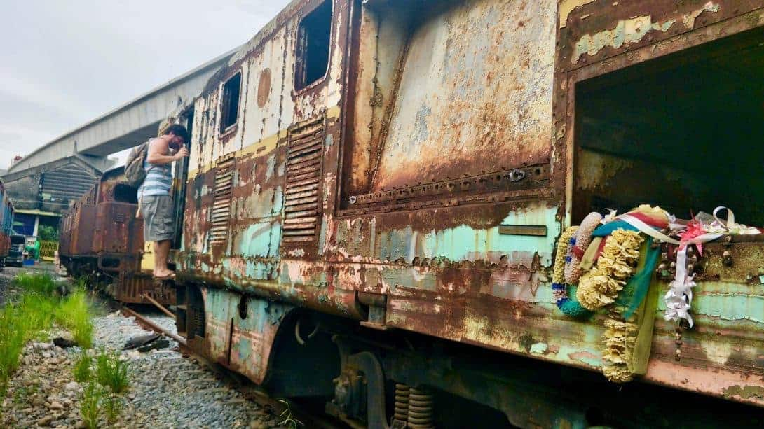 An abandoned train in Bangkok.