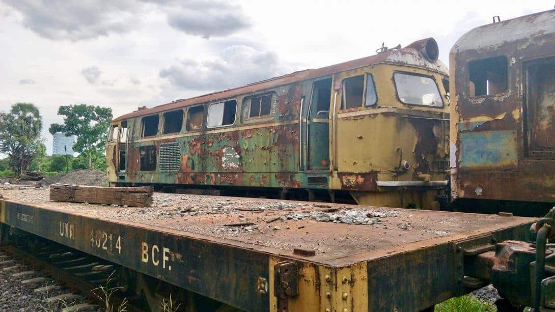 Bangkok's Train Graveyard.