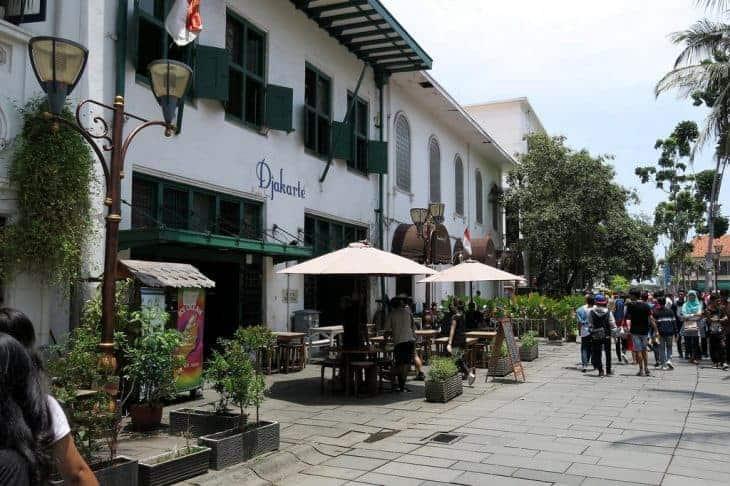 Quaint streets of Kota Tua (Old Town), Jakarta, Indonesia.