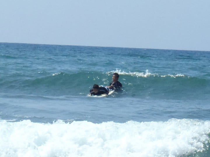 Learning to surf in San Juan La Union