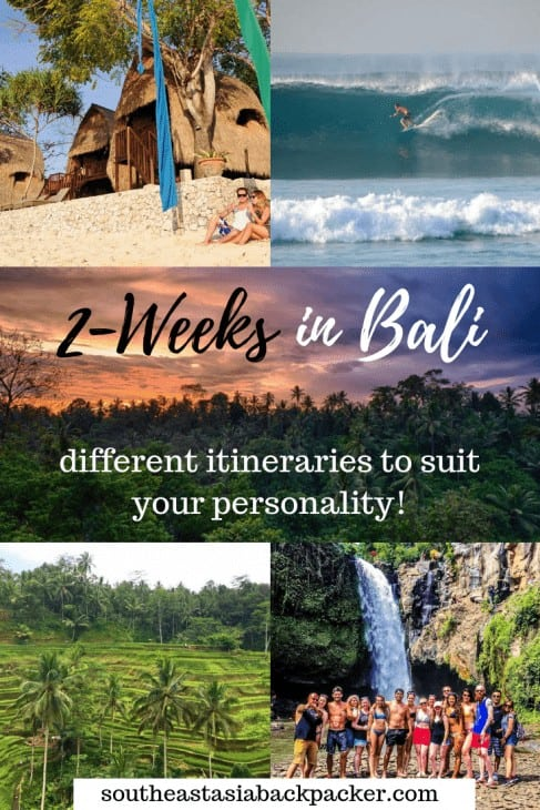 Plan your perfect Bali Itinerary!