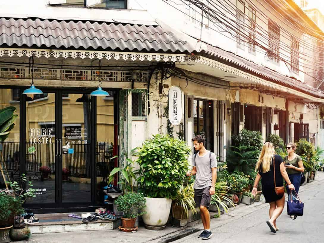 Here Hostel - High up our list of the best hostels Bangkok.