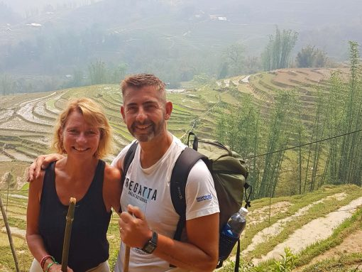 A couple trekking on the Real Sapa Experience