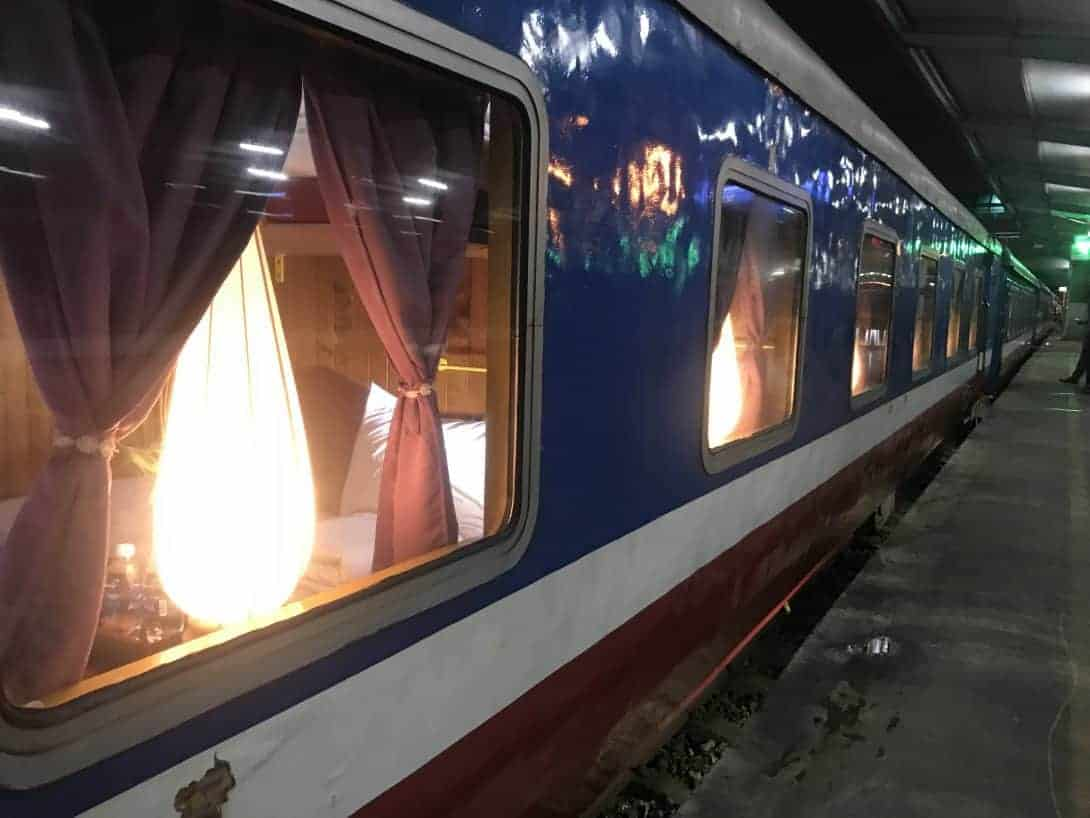 The Night Train Seen From The Platform Before Boarding in Hanoi on The Way to Trek in Sapa
