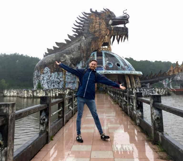 The dragon - the main feature of Hue's Abandoned Water Park