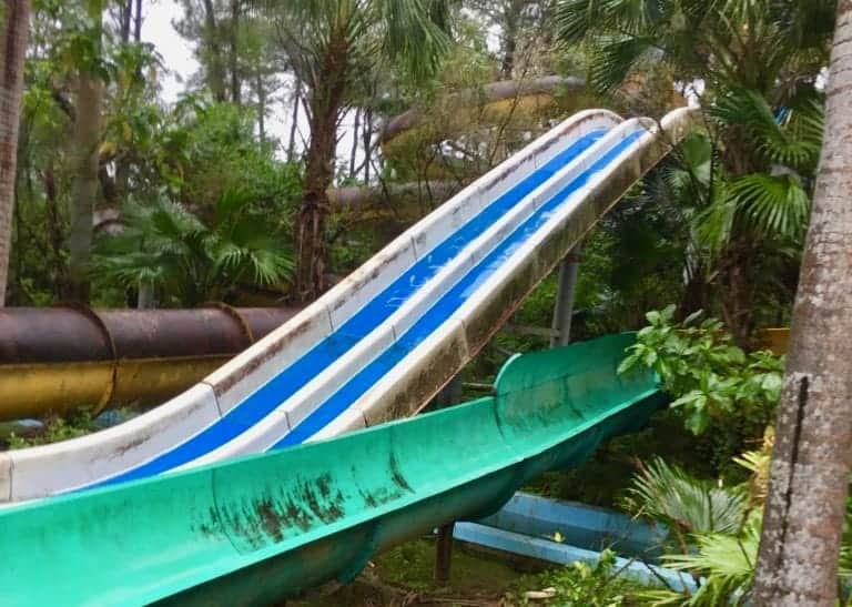 The decaying slides of the Abandoned Water Park, Hue.