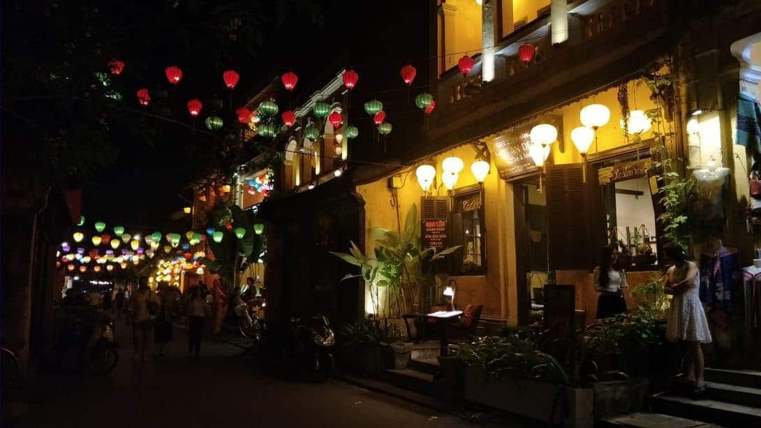 Hoi An lanterns by night in the Ancient Town.