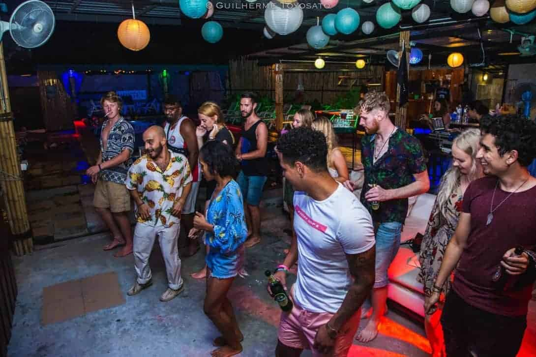 Latin dancing night at Phanganist Hostel, Koh Phangan.