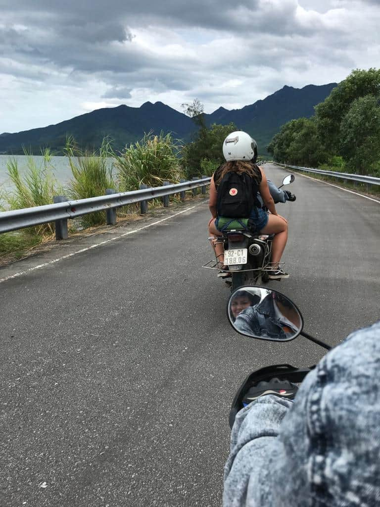 Riding pillion on the Hai Van Pass Tour