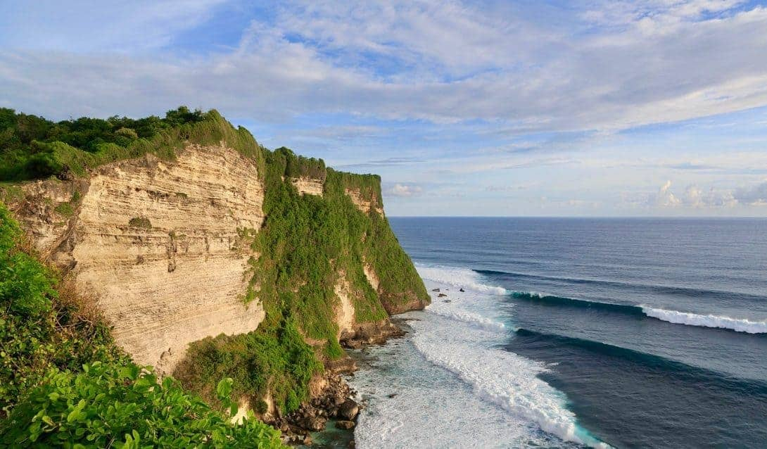 The cliffs of Uluwatu, Bali.