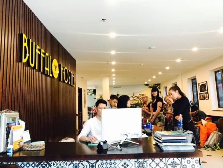 Hanoi Buffalo Hostel Reception