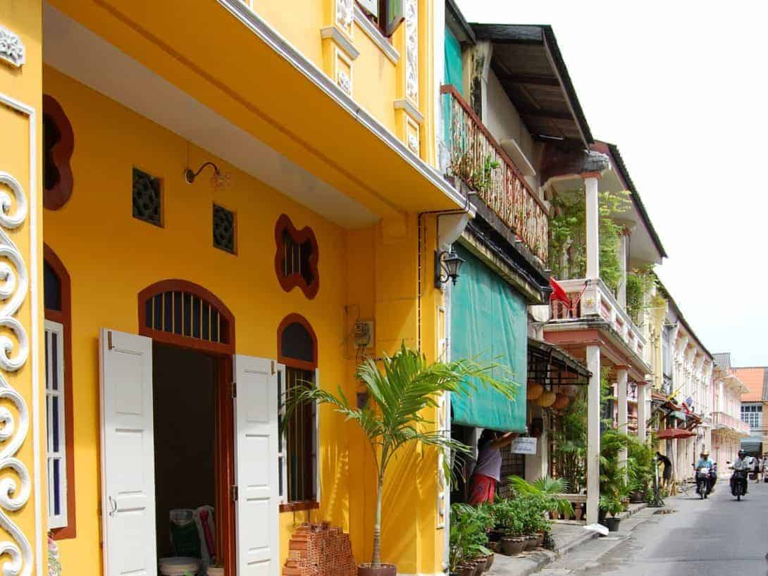 Colourful Sino-Portuguese Buildings in Phuket Old Town