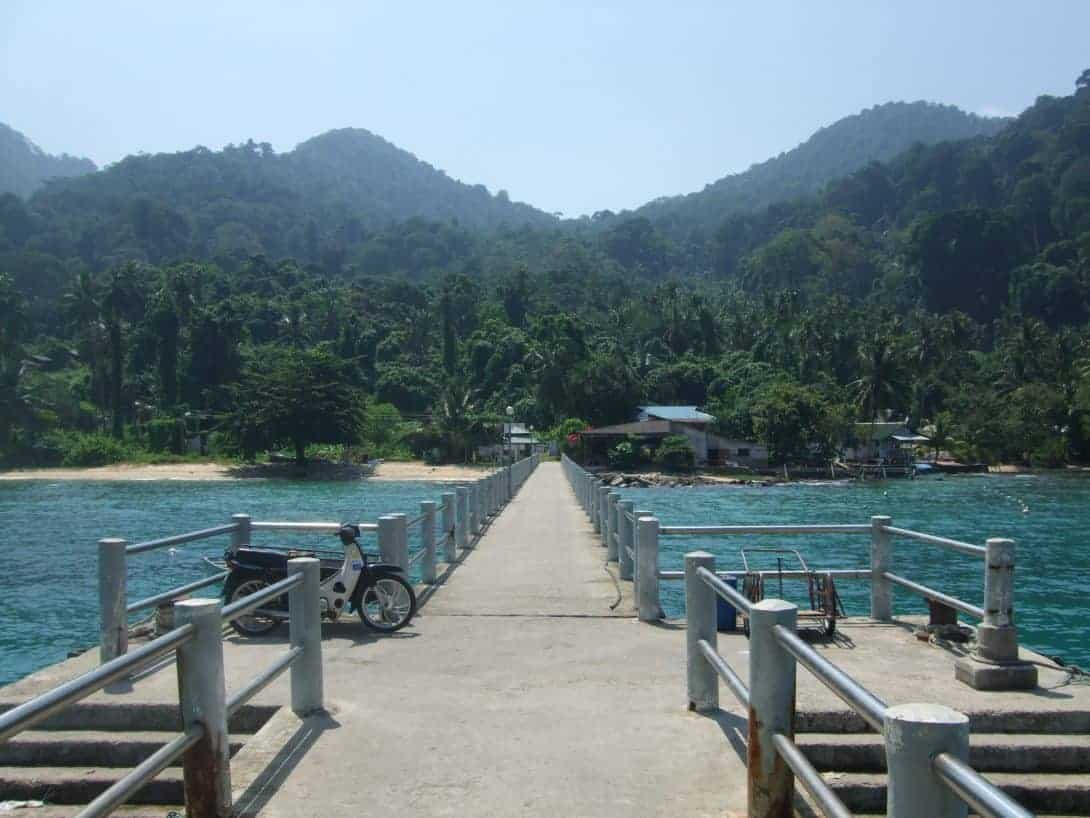 The jetty at Air Batang, Pulau Tioman, Malaysia