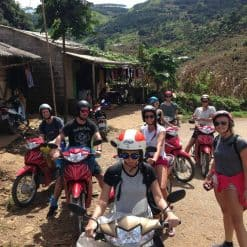 Backpackers stop-by in a village in their True North Trip - Vietnam