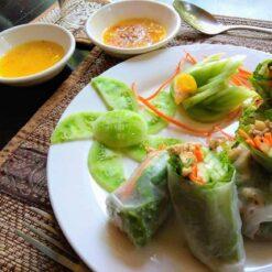 Fresh spring rolls Lily's Secret Garden Siem Reap Cambodia