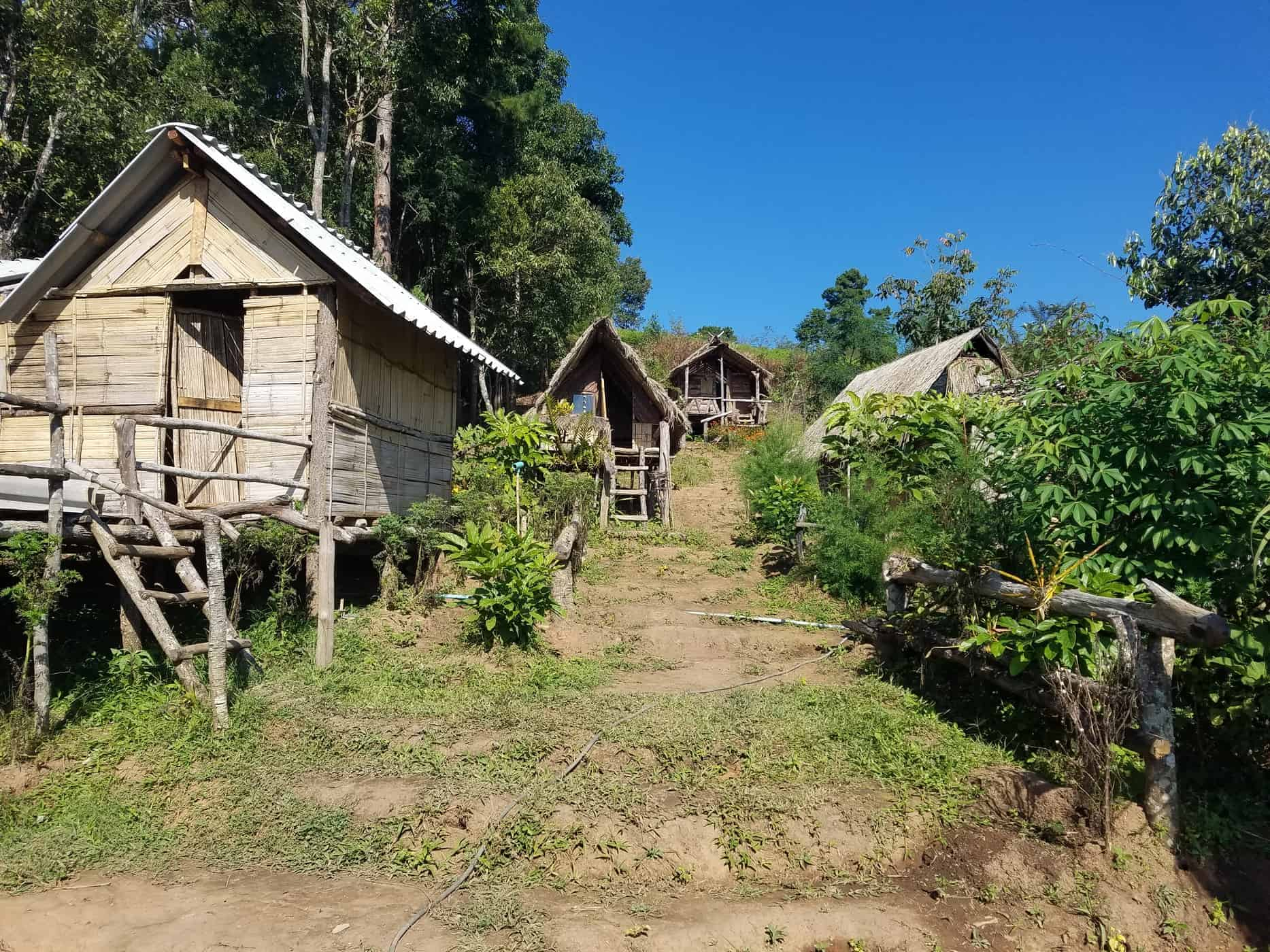 Indigenous huts in Doi Inthanon National Park Chiang Mai