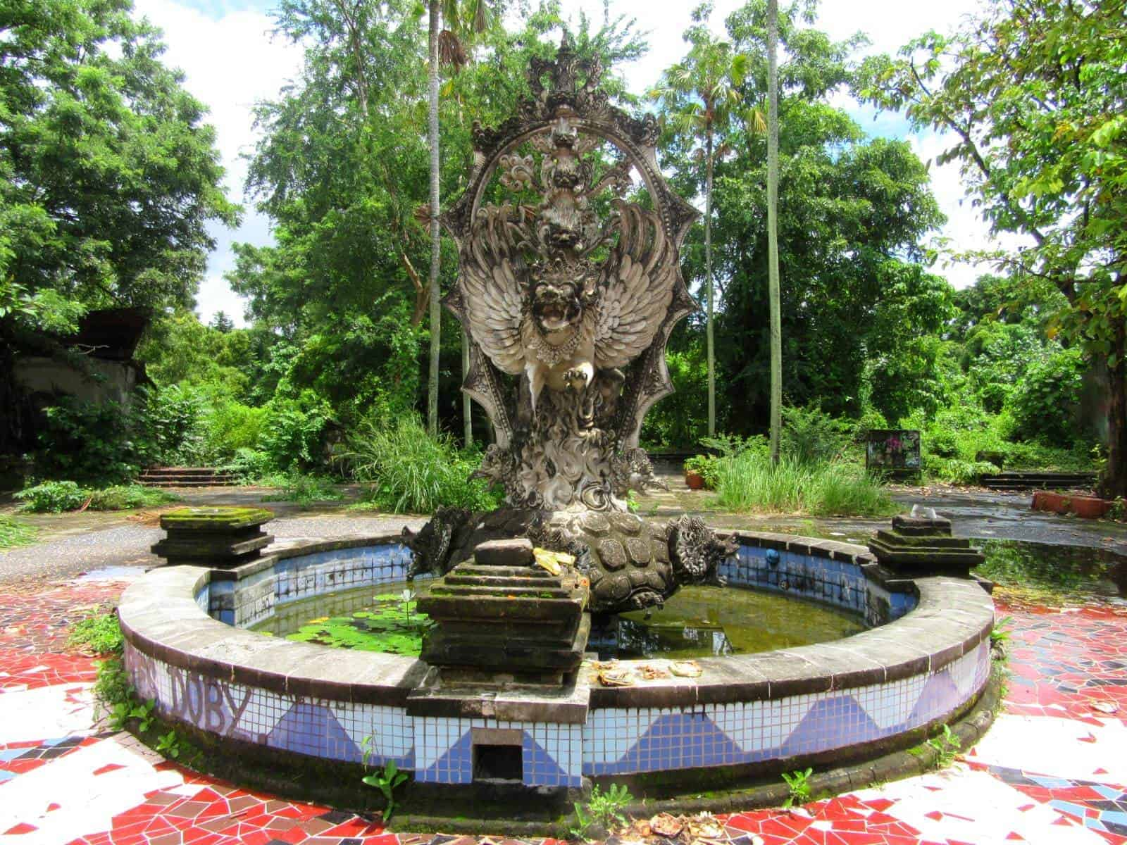 A Grotesque Statue Fountain at Taman Festival, Abandoned Theme Park, Bali