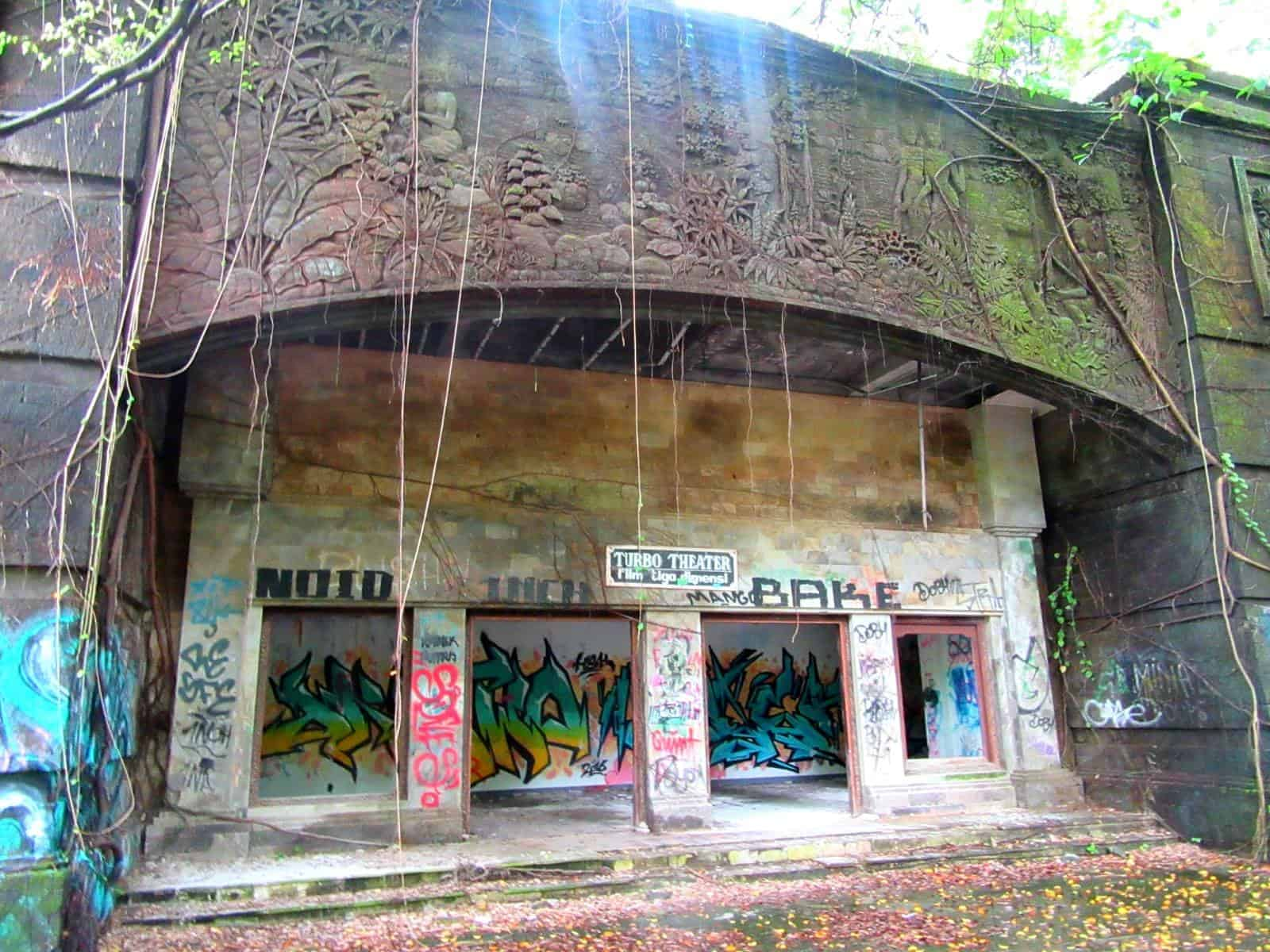 The Entranceway of the Derelict 3D Cinema at Taman Festival