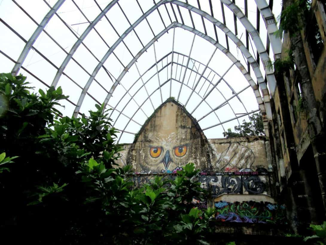 Owl Graffiti at Taman Festival, Abandoned Theme Park in Bali