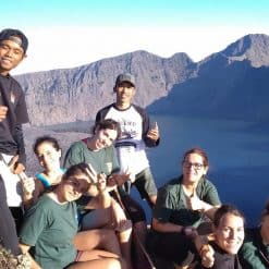 Backpackers at Mount Rinjani Lombok Indonesia