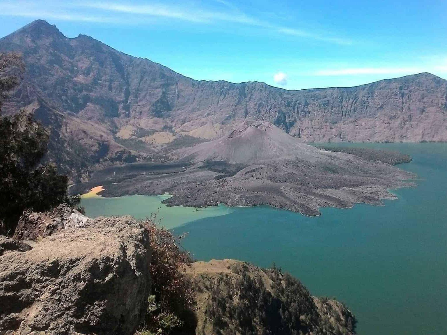 Lake Segara Anak, Mt Rinjani Lombok Indonesia