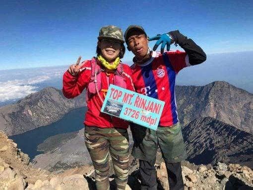 Reaching the summit of Mount Rinjani Lombok
