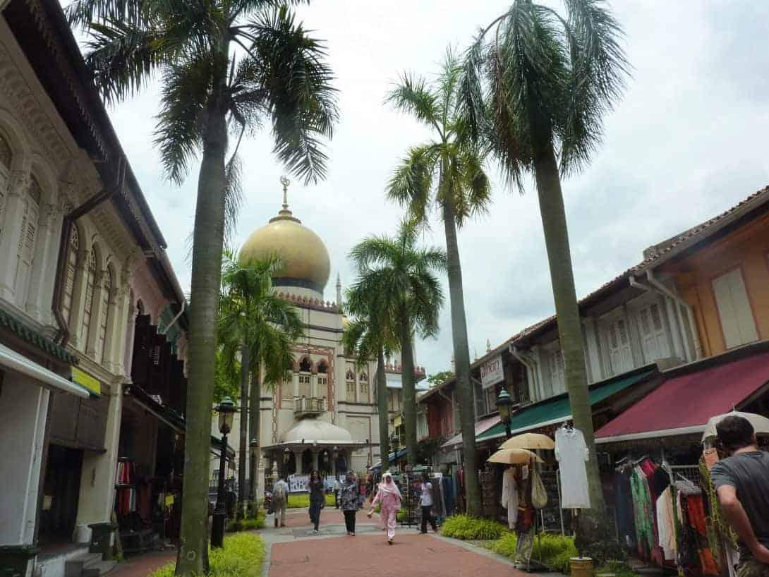 The Sultan Mosque in Bugis, Singapore.