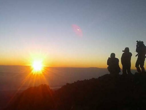 Sunrise Mt Rinjani Lombok Indonesia