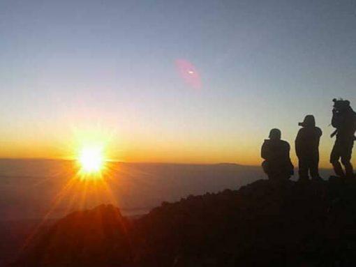 Sunrise Mt Rinjani Lombok Indonesia