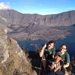 The crater Mount Rinjani Lombok Indonesia