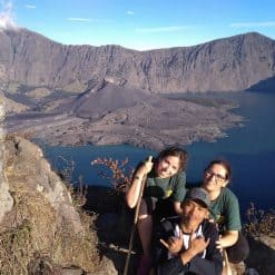 The crater Mount Rinjani Lombok Indonesia